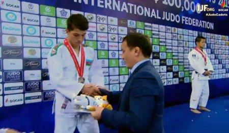 Erməniyə qalib gələn cüdoçumuz dünya birinciliyinin gümüş medalını qazanıb